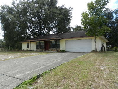 Ocala Single Family Home For Sale: 15750 SW 27 Ave Road