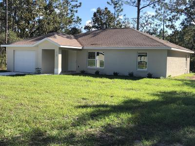 Ocala Single Family Home For Sale: 13191 SW 72nd Terrace Road