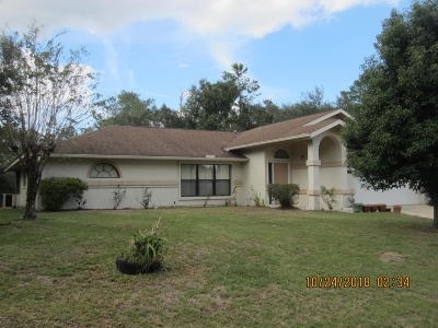 Marion Oaks North, Marion Oaks Rnc, Marion Oaks South Single Family Home For Sale: 14630 SW 25 Terrace