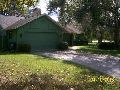 Dunnellon Single Family Home For Sale: 18721 SW 102nd Street Road