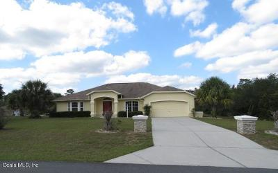Marion Oaks North, Marion Oaks Rnc, Marion Oaks South Single Family Home For Sale: 2617 SW 176th Loop
