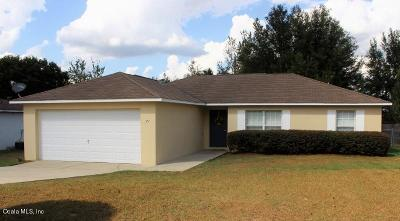 Ocala Single Family Home For Sale: 71 Pecan Course Loop