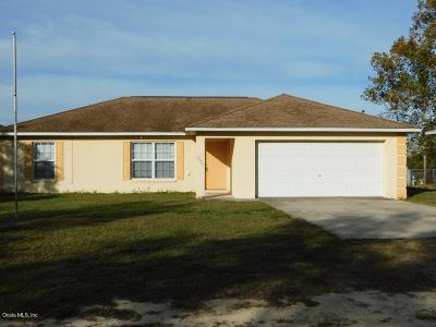 Belleview Single Family Home For Sale: 12324 SE 103rd Terrace