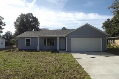 Dunnellon Single Family Home For Sale: 20119 SW 81st Lane