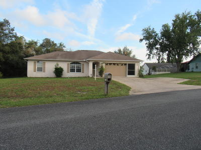 Marion Oaks North, Marion Oaks Rnc, Marion Oaks South Single Family Home For Sale: 16125 SW 44th Circle