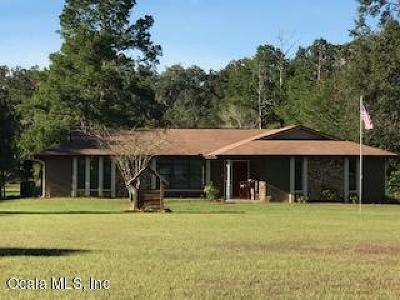 Citra Single Family Home For Sale: 7955 E Highway 318
