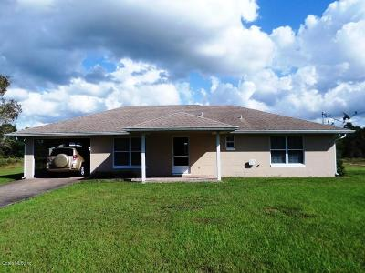 Dunnellon Single Family Home For Sale: 5071 SW Zinnia Court