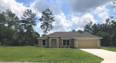 Marion Oaks North, Marion Oaks Rnc, Marion Oaks South Single Family Home For Sale: 3798 SW 161st Loop