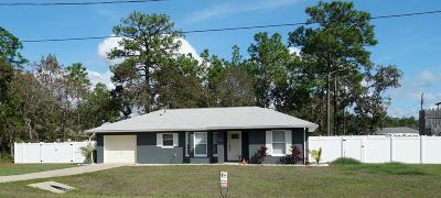 Ocala Single Family Home For Sale: 7162 Hemlock Loop