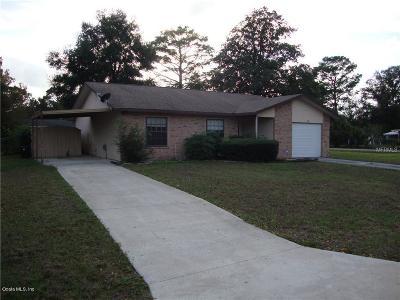 Ocala Single Family Home For Sale: 463 Spring Lane