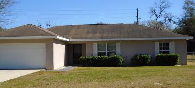 Ocala Single Family Home For Sale: 11 Bahia Court Trace