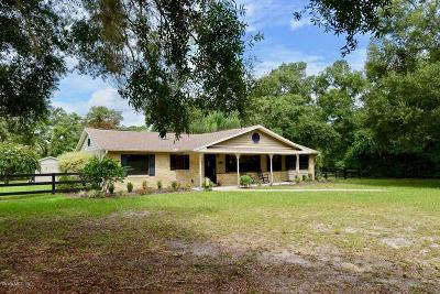 Belleview Single Family Home For Sale: 11100 SE 108th Terrace Road