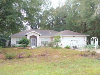 Dunnellon Single Family Home For Sale: 13472 SW 114 Lane