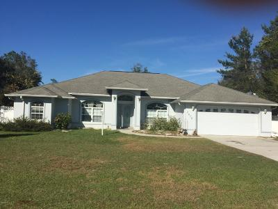 Marion Oaks North, Marion Oaks South, Marion Oaks Rnc Single Family Home For Sale: 2675 SW 156 Lane Road