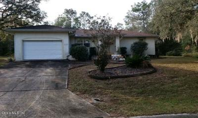 Dunnellon Single Family Home For Auction: 20370 SW 71 Place