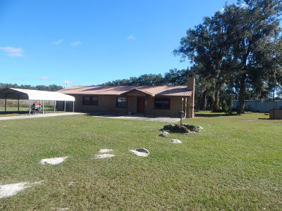 Levy County Single Family Home For Sale: 18651 NE 86 Lane