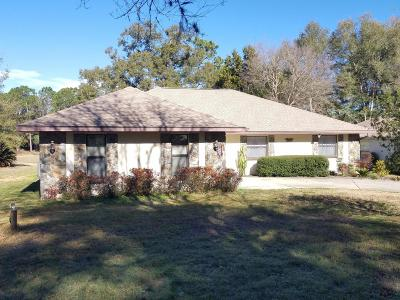 Dunnellon Single Family Home For Sale: 19725 SW 93rd Place