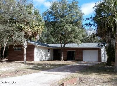 Dunnellon Single Family Home For Sale: 4641 SW Zinnia Court