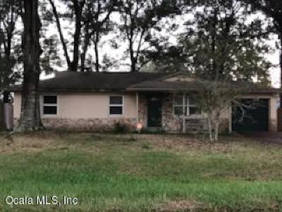 Belleview FL Single Family Home For Sale: $118,000