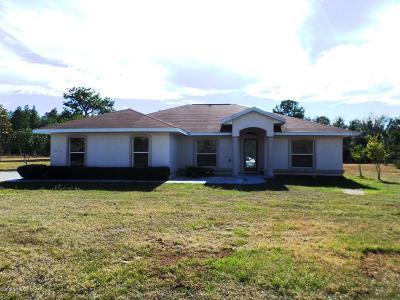 Dunnellon Single Family Home For Sale: 20412 SW Cardinal Avenue