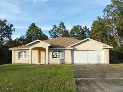 Dunnellon Single Family Home For Sale: 20851 SW 73rd Lane