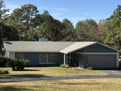 Dunnellon Single Family Home For Sale: 9015 SW 204 Circle