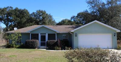 Dunnellon Single Family Home For Sale: 10175 SW 130th Court
