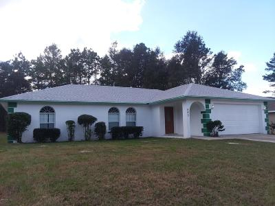 Ocala Single Family Home For Sale: 480 Marion Oaks Trail