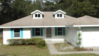 Dunnellon Single Family Home For Sale: 19445 St Benedict Drive