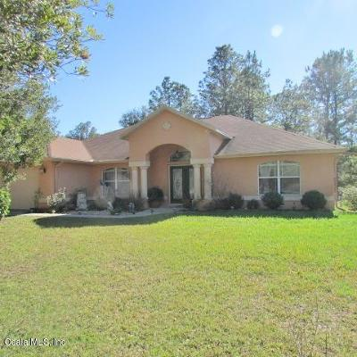 Dunnellon Single Family Home For Sale: 20222 SW 77th Street