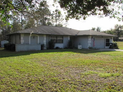 Dunnellon Single Family Home For Sale: 22830 SW Anchor Boulevard
