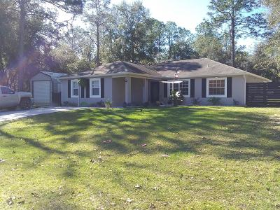 Dunnellon Single Family Home For Sale: 9568 N Jourden Drive