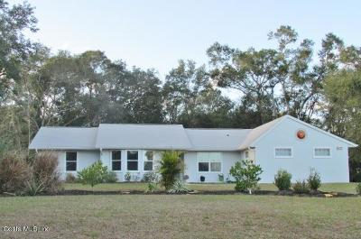 Dunnellon Single Family Home For Sale: 19757 SW 88 Place Road
