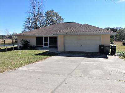 Dunnellon Single Family Home For Sale: 6652 W Riverbend Road