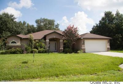 Dunnellon Single Family Home For Sale: 13945 SW 114th Place