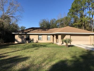 Ocala Single Family Home For Sale: 2590 SW 141st Court
