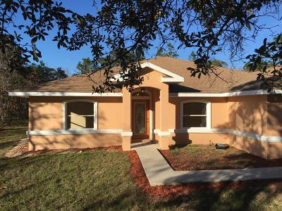 Dunnellon Single Family Home For Sale: 12385 SW 96th Lane