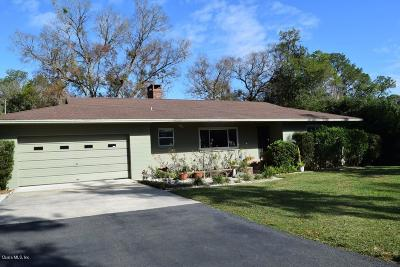Dunnellon Single Family Home For Sale: 11809 Camp Drive