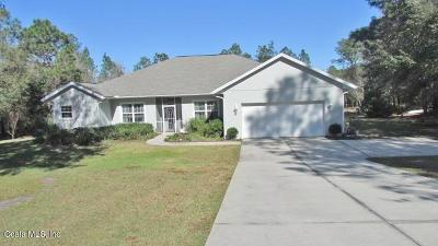 Dunnellon Single Family Home For Sale: 20381 SW 86th Loop