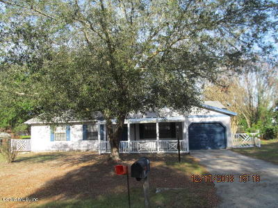 Marion County Single Family Home For Sale: 32 Palm Run