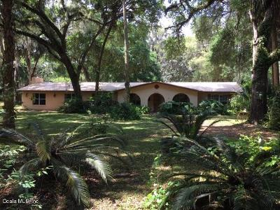 Citra Single Family Home For Sale: 7071 E Highway 318