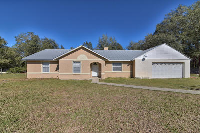 Dunnellon Single Family Home For Sale: 13431 SW 111th Street