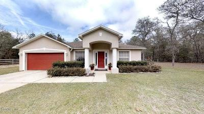 Dunnellon Single Family Home For Sale: 12625 SW 78th Place