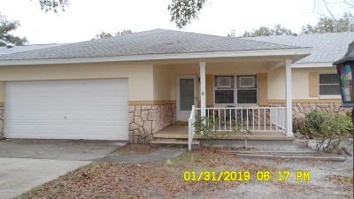 Ocala Single Family Home For Sale: 8673 SW 96 Lane #D