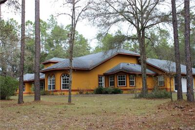 Dunnellon Single Family Home For Sale: 21680 SW 84th Loop