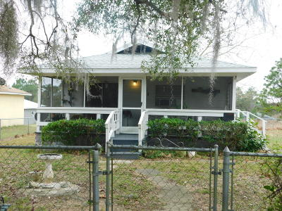 Belleview FL Single Family Home For Sale: $62,000