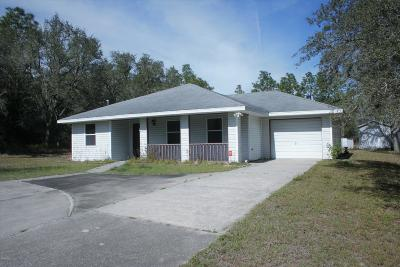 Dunnellon Single Family Home For Sale: 21731 SW Rainbow Lakes Boulevard
