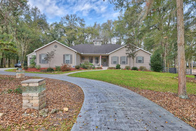 Ocala Single Family Home For Sale: 11160 NW 17th Court Road