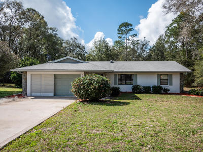 Dunnellon Single Family Home For Sale: 19279 SW 96th Loop