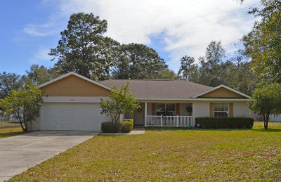 Dunnellon Single Family Home For Sale: 20340 SW 80th Road